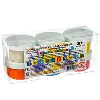Краски пальчиковые, набор 6 цветов х 60 мл, 'Спектр', 360 мл, перламутровые (от 3-х лет)