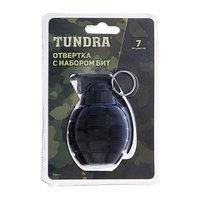 Отвертка с набором бит TUNDRA 'граната', 6 бит