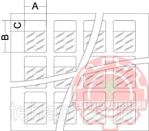 LLC.17.0005 Самоламинирующиеся маркеры на листе А4  для диаметра до 10.2 мм (12,0х44,0) в упаковке 3900 шт бел