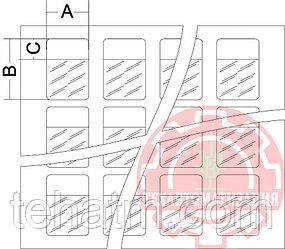 LLC.17.0006 Самоламинирующиеся маркеры на листе А4 для диаметра до 8 мм (18,0х44,0) в упаковке 2700 шт белый
