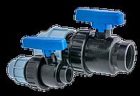 Кран шаровый DN20 х1/2 F компрессионный СТМС L-105 мм