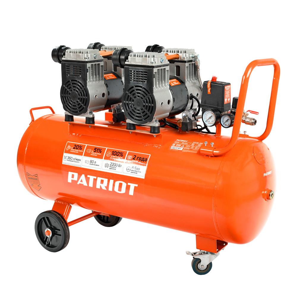 Безмасляный компрессор PATRIOT WO 80-360 (поршневой)