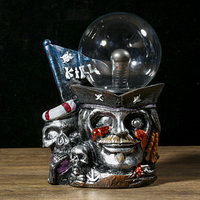 Плазменный шар полистоун 'Пират Слепой Пью' 21х15х10 см