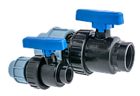 Кран шаровый DN32 х1 F компрессионный СТМС L-145