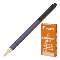 Ручка шариковая автоматическая Pilot Soft, узел 0.7мм, чернила синие, корпус с покрытием Soft