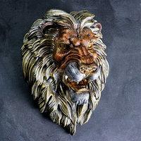 Подвесной декор 'Голова льва' бронза МИКС