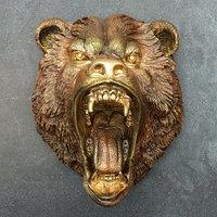 Подвесной декор 'Голова медведя' бронза