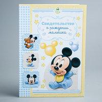 Свидетельство о рождении 'Микки малыш', Микки Маус, размер файла 14,2 x 20,5 см Disney (новый формат