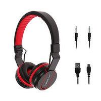 Беспроводные наушники HQ-3, складные, микрофон, слот microSD, чёрно-красные