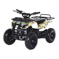 Квадроцикл детский бензиновый MOTAX Mini Grizlik Х-16 Большие колеса,Бомбер, с электростартером и пультом