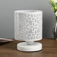 Лампа настольная 'Цветы' 1xE27 40Вт белый 14,5х14,5х19,5 см.