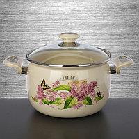 Кастрюля 5л Ветка сирени/Lilac L91916лилак