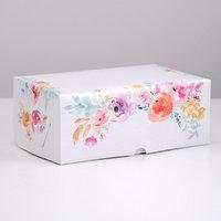 Упаковка на 6 капкейков 'Цветы', без окна, 25 х 17 х 10 см (комплект из 5 шт.)
