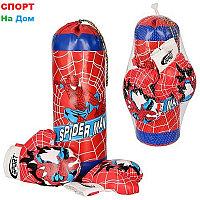 Детский Набор для бокса Подвесная груша с перчатками Spider Man 64х20х20