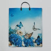 Пакет 'Бархатные бабочки', полиэтиленовый с пластиковой ручкой, 38 х 45 см, 100 мкм (комплект из 10 шт.)