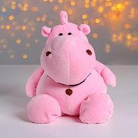 Мягкая игрушка 'Бегемотик', 30 см, цвет розовый