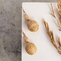 Серьги ассорти 'Ваканда' бусины, цвет молочно-коричневый в золоте