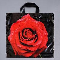 Пакет 'Красная роза', полиэтиленовый с петлевой ручкой, 38х45 см, 45 мкм (комплект из 25 шт.)