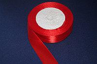 Лента атласная (красная) 25 мм. - 25 ярдов (22,8 метра)