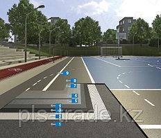 Спортивное покрытие Mapecomfort эластичный резиновый мат