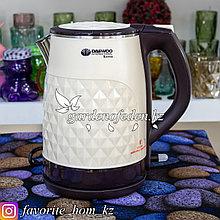 """Электрический чайник """"Daewoo"""". Цвет: Белый/Черный. Объем: 2.2л. Мощность: 1850Вт."""