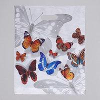 Пакет 'Бабочки', полиэтиленовый с вырубной ручкой, 40 х 47 см, 45 мкм (комплект из 50 шт.)