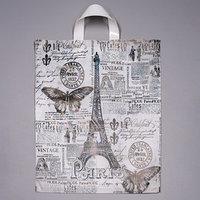 Пакет 'Парижский день', полиэтиленовый с петлевой ручкой, 38 х 42 см, 40 мкм (комплект из 50 шт.)