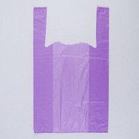 Пакет 'Фиолетовый', полиэтиленовый, майка, 25 х 45 см, 9 мкм (комплект из 200 шт.)