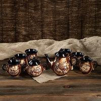 Чайный набор 'Арго' 8 предметов чайник 1,5 л, сахарница 0,7 л, кружки 0,45 л