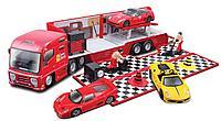 Грузовик с автомобилем Bburago Ferrari и аксессуарами