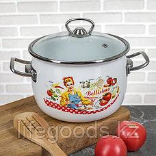 """Набор эмалированной посуды из 3-х кастрюль,(2,5 л,3,5 л, 5 л) i1600 """"Беллисимо"""", фото 2"""