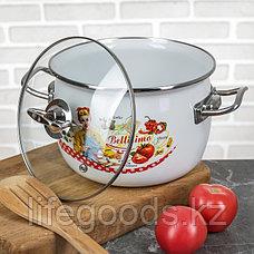"""Набор эмалированной посуды из 3-х кастрюль,(2,5 л,3,5 л, 5 л) i1600 """"Беллисимо"""", фото 3"""