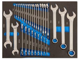 Набор комбинированных и рожковых ключей, 31 предмет