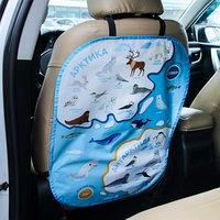 Незапинайка на автомобильное кресло 'Карта Артика и Антарктида'