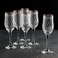 Набор бокалов для шампанского 200 мл 'Винтаж', 6 шт