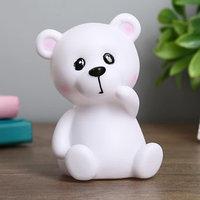 Ночник 'Белый мишка' 1Вт белый 8,5х8,5х12 см.