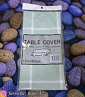 Скатерть на стол с узором. Материал: Хлопок. Цвет: Зеленый. Размеры: 137x183см.