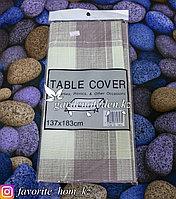 Скатерть на стол с узором. Материал: Хлопок. Цвет: Коричневый/Бежевый. Размеры: 137x183см.