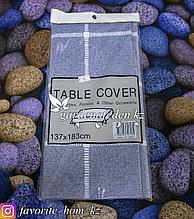 Скатерть на стол с узором. Материал: Хлопок. Цвет: Синий. Размеры: 137x183см.