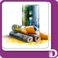 Широкоформатная  печать на обоях, 720 dpi, сольвент, фото 1
