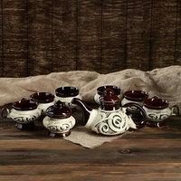 Чайный набор 'Аладдин' 8 предметов чайник 1,5 л, сахарница 0,7 л, кружки 0,45 л