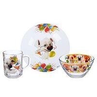 Набор посуды 'Озорная семейка. Всезнайка Рекс', 3 предмета тарелка 19 см, кружка 210 мл, салатник 13 см 250 мл