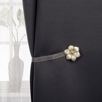 Подхват для штор 'Цветок', d  5,5 см, цвет белый