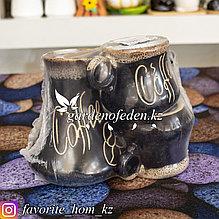 Кофейный набор: Турка и 2-е кофейные чашки. Материал: Керамика. Цвет: Черный.