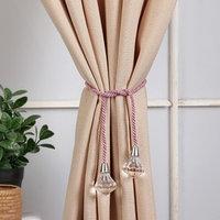 Кисть для штор 'Кристалл', 59 ± 1 см, цвет розовый