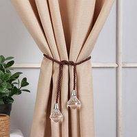 Кисть для штор 'Кристалл', 59 ± 1 см, цвет коричневый