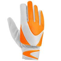 Перчатки вратарские, размер 8, оранжево-белый