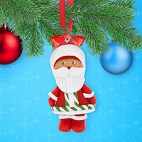 Набор для творчества. Новогодняя подвеска из полимерной глины 'Дед Мороз'