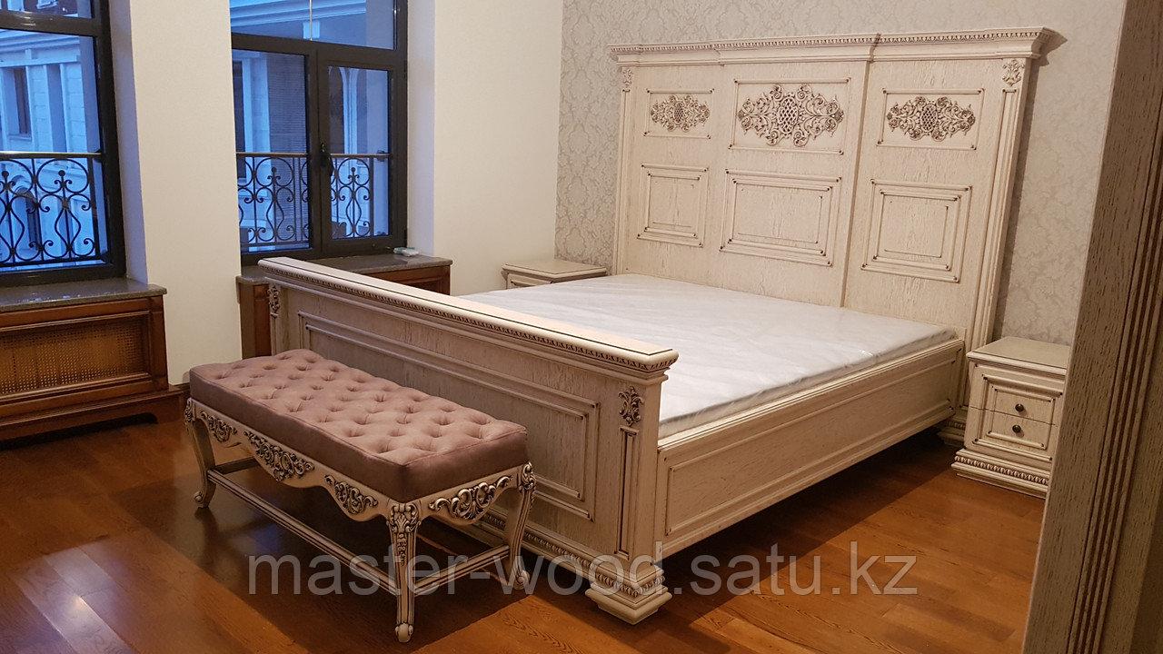 Кровати на заказ из натурального дерева - фото 8