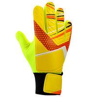 Перчатки вратарские, размер 7, цвет жёлтый